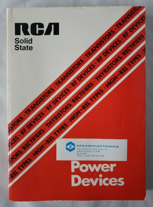 1977 RCA Solid State Power Devices Book SSD-220A Reference Guide Manual
