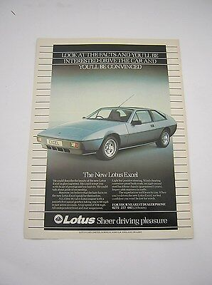 British Automobilia Lotus Elan Post Card Brochure Sales Literature