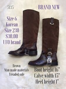 Size 6 brand new brown riding boot