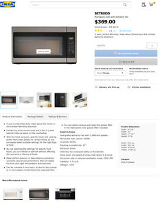 Over The Range Stainless Steel Microwave