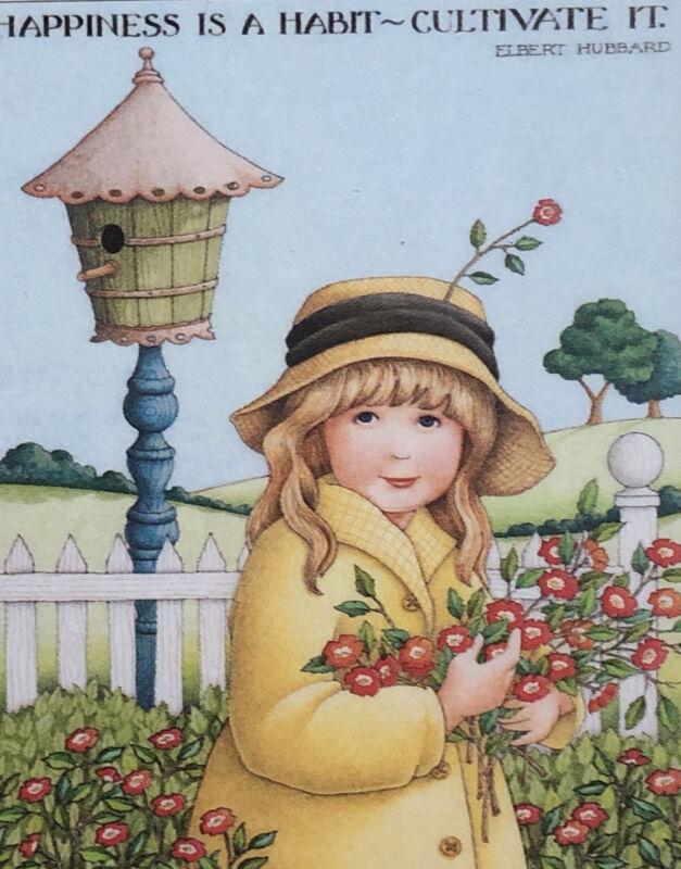 Mary Engelbreit Handmade Magnet-Happiness is a Habit