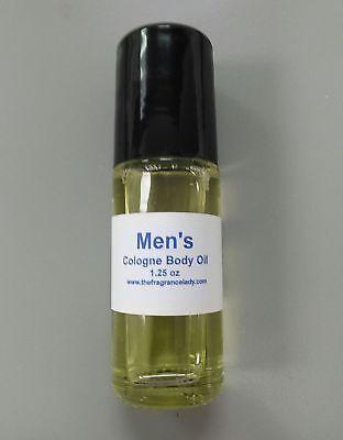 1.25 oz Vanilla Coconut Cologne Body Oil Fragrance Mens Roll On One Bottle  Coconut Perfume Body Oil