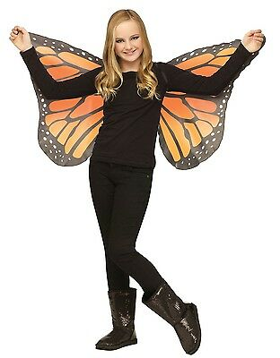 Butterfly Wings Soft Fabric Child Costume Accessory, One Size, Orange-Yellow - Yellow Butterfly Wings Costume