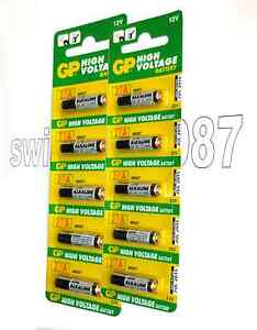 GP 27A MN27 GP27A L828 A27 12v Batteries Fresh Expire 2015 Free Shipping Pack 10