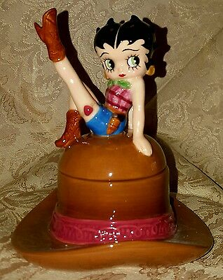Westland Betty Cowgirl Boop jewelry trinket box new