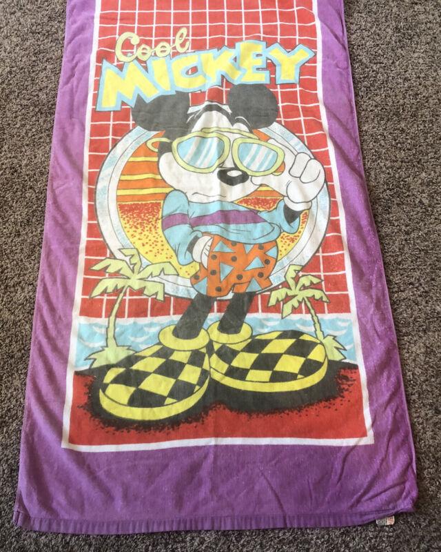 Vintage Franco Disney Beach Towel Cool Mickey 30 X 59
