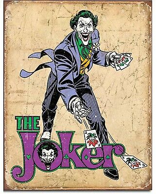 The Joker Superhero DC Comic Retro Disstressed Wall Decor Metal Tin Sign New