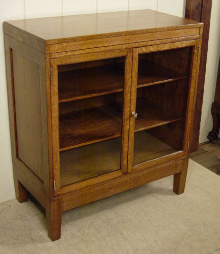 Antique Oak Two-Door Stacking Bookcase
