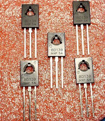 Bd139 To-126 Silicon Npn Transistor Low Voltage 80v 1.5a Sot-32 Bipolar 5pcs