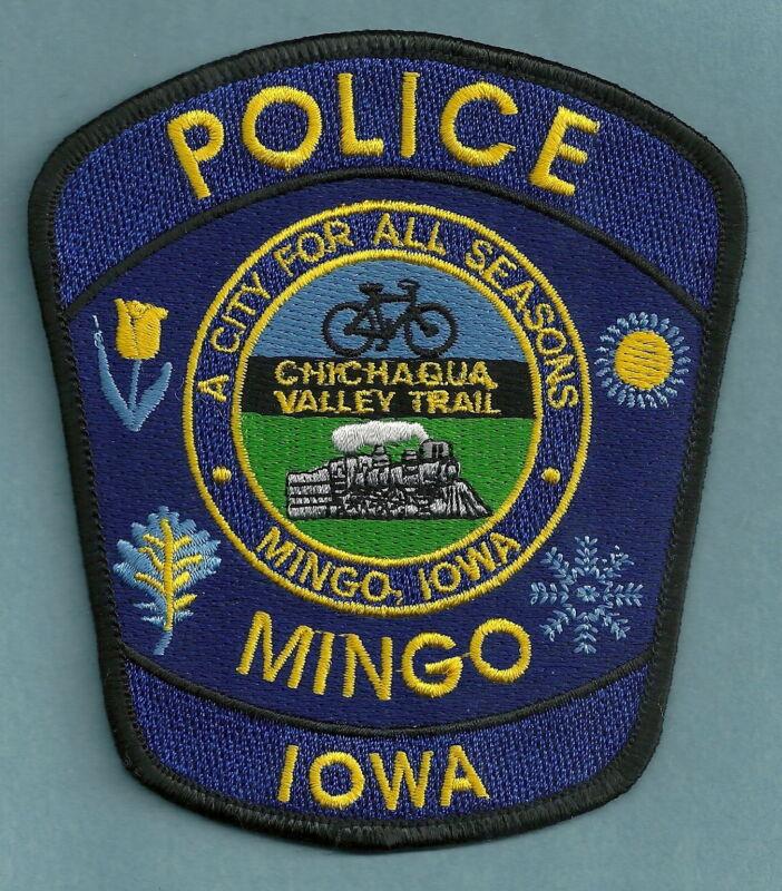 MINGO IOWA POLICE SHOULDER PATCH LOCOMOTIVE