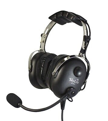 SkyLite SL-900 Pilot Aviation GA Headset with Gel and FREE BAG - Made in Korea
