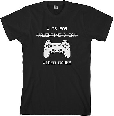 V Is For Video Games Men's T-Shirt Valentine's Day Gift