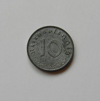DRITTES REICH: 10 Reichspfennig 1943 A, J. 371, stempelglanz,  II.,  MÜNZGLANZ