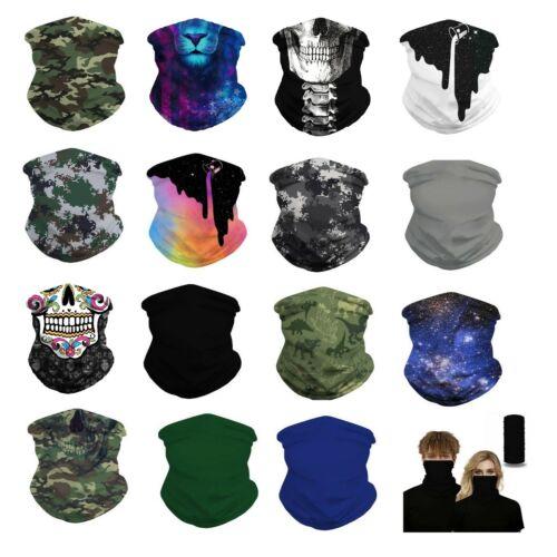 (2 Pack Set) Neck Gaiter Neckerchief Bandanna Headband Face bike Mask