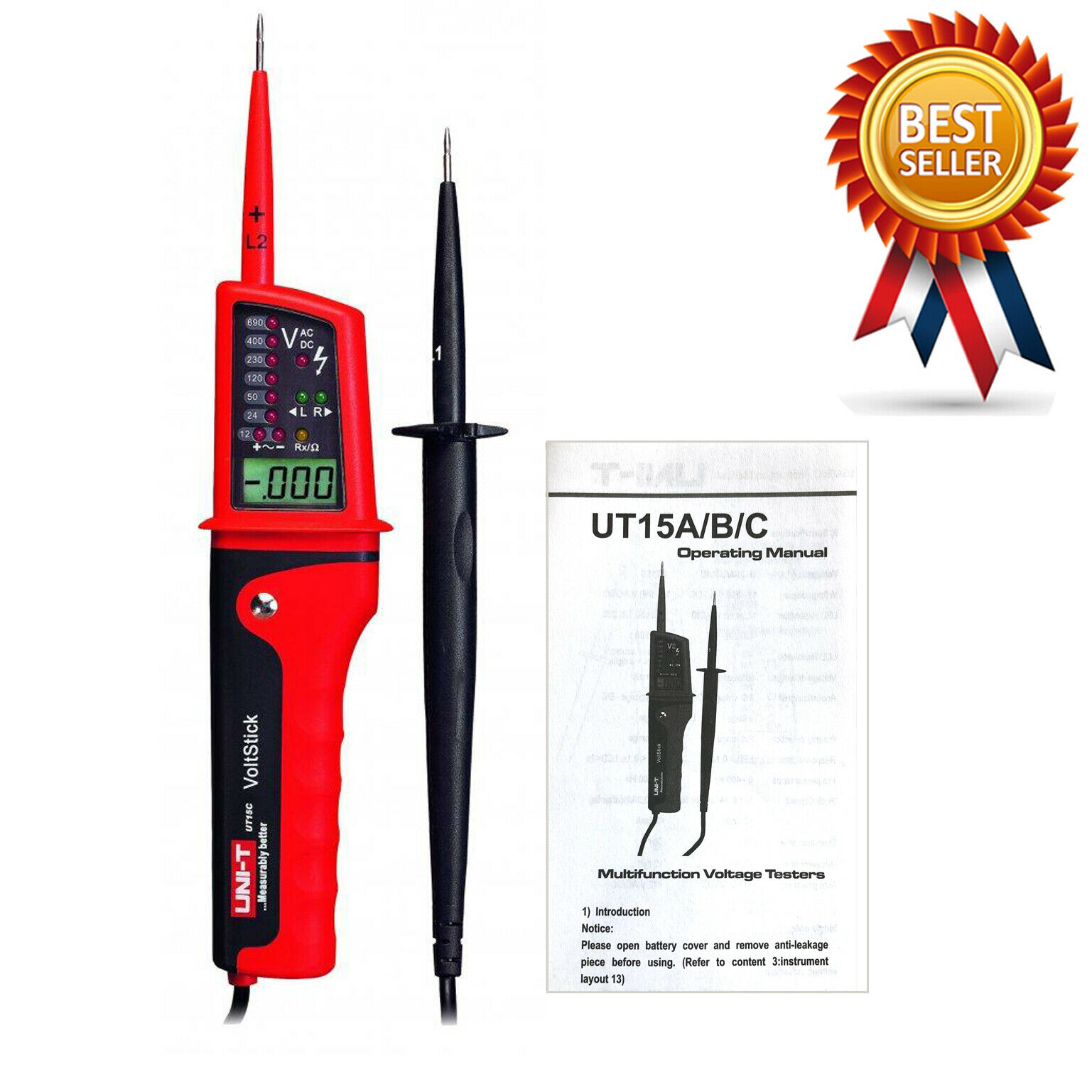 UNI-T UT15C Waterproof Type Voltage Testers New