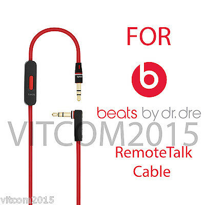 Replacement Audio Remote Talk 3.5mm Cable For Beats By Dre  Solo HD Studio Pro