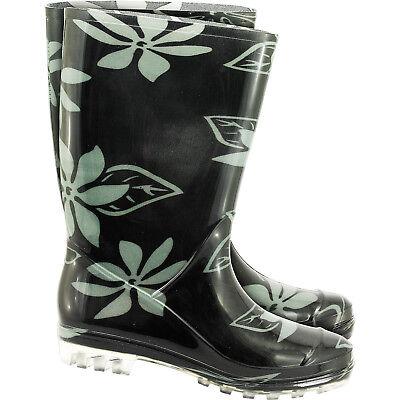 Schuhe Kleidung Bekleidung (Gummistiefel Stiefel Regenbekleidung Regenkleidung  Blumenmuster Gr. 36 - 42 NEU)