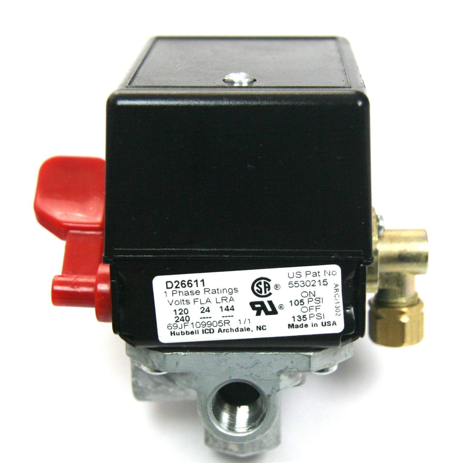 5140118-56 Porter Cable Air Compressor Pressure Switch Cr...