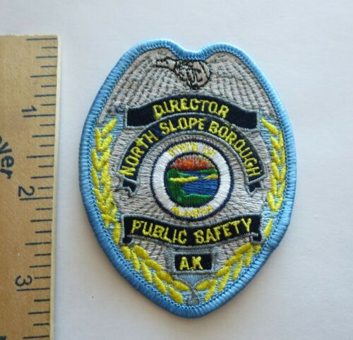 NORTH SLOPE BOROUGH ALASKA PUBLIC SAFETY DIRECTOR POLICE PATCH  Original