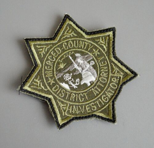 Merced County California District Attorney Investigator Subdued Patch