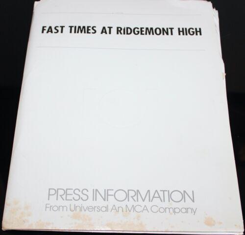 FAST TIMES AT RIDGEMONT HIGH SEAN PENN MOVIE PRESS KIT PHOTOS