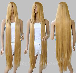130cm 51 Long Rapunzel Tangled Light Golden Blonde