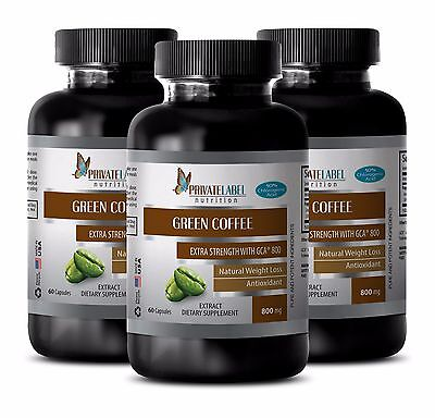 Green Coffee Bean Extract w/GCA 800 - Slimming Pills - Fat Burner - 3B