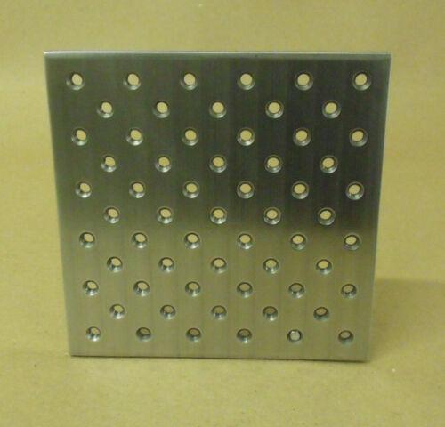 "Steel Tooling Plate, 6"" x 6"", 1/4-20 Holes, TLPLATE0606"