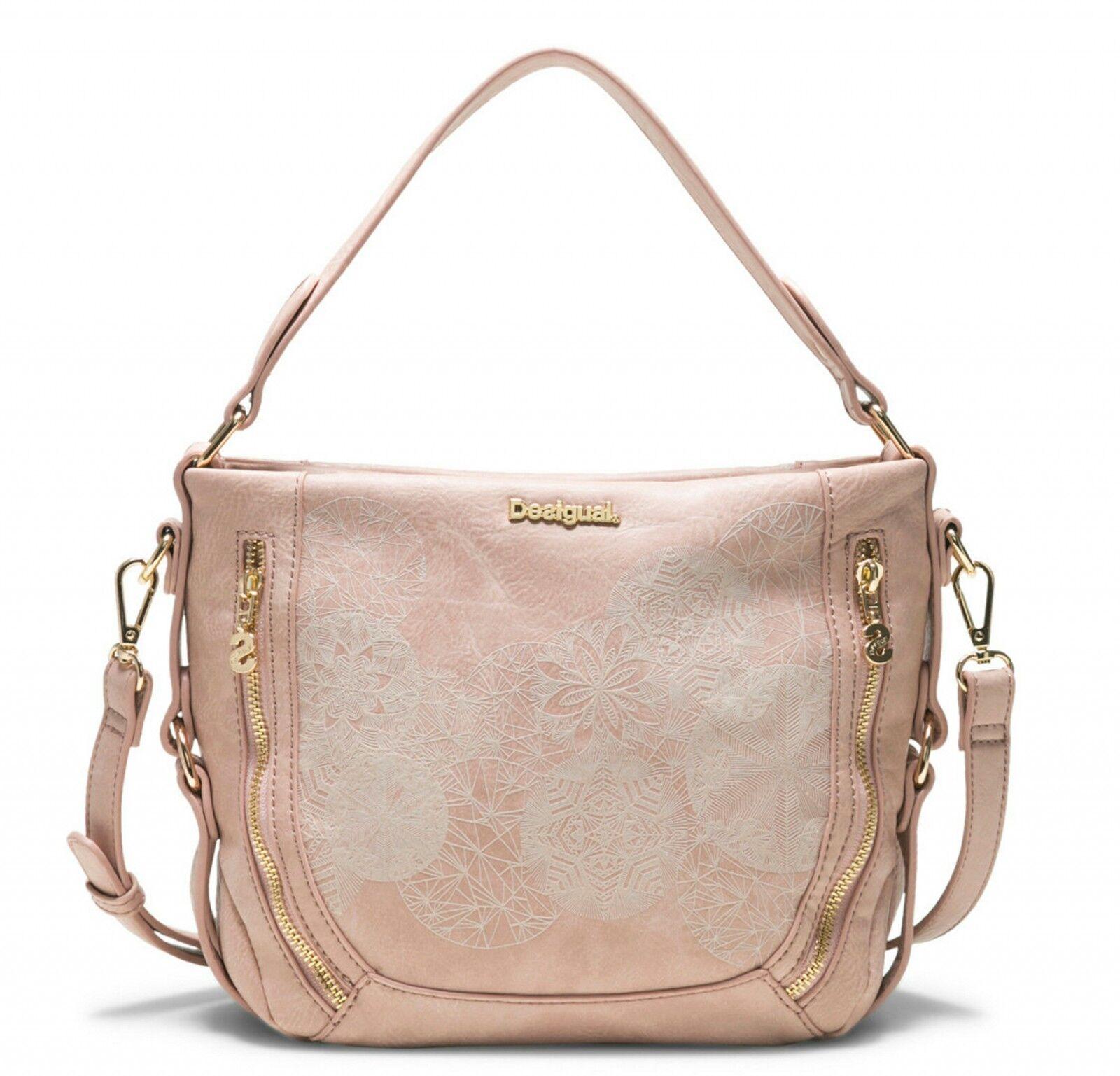 Desigual Zoe Marteta Mini Hand Bag Handtasche Tasche Salmon Palido Rosa Neu