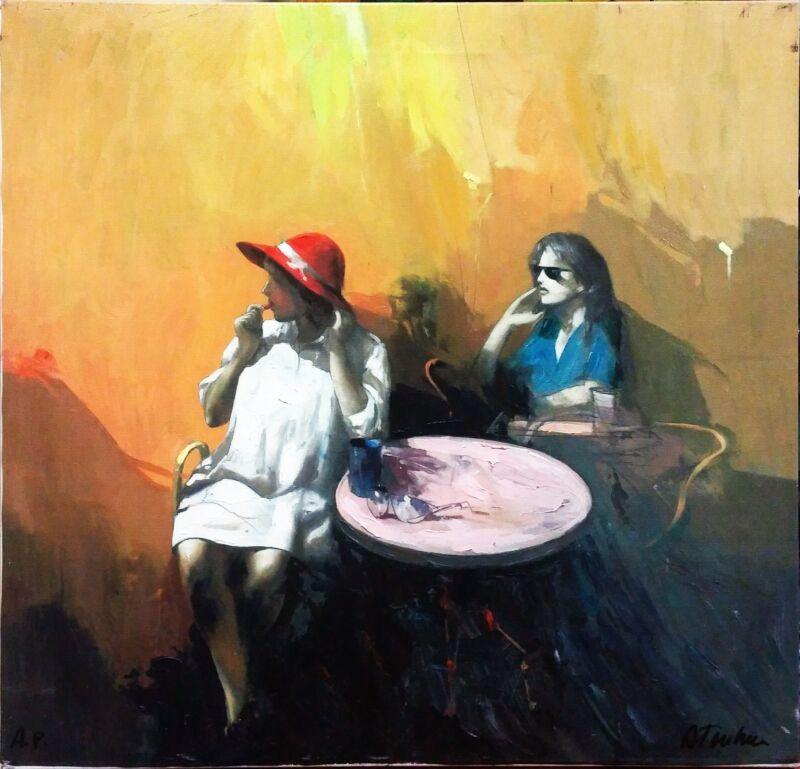 "Antonio Tamburro ""capriccosa"" | Signed Embellished Giclee/canvas | Stretched"