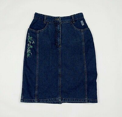 Pop 84 mini gonna jeans donna usato W28 tg 42 vintage invernale skirt T6066
