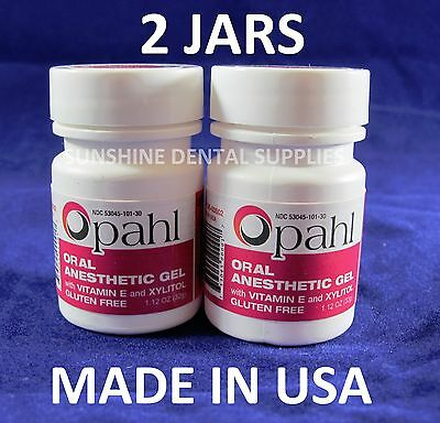 (2 JARS Opahl 20% Benzocaine Anesthetic Gel Cherry Tattoo Numbing Piercing)