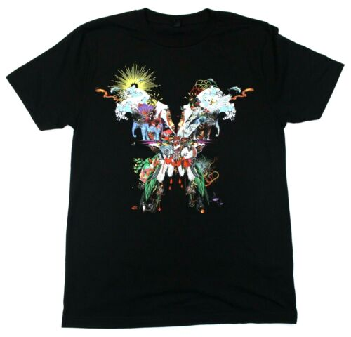 Coldplay A Head Full Of Dreams Butterfly Logo Concert Tour T-Shirt - Black - S