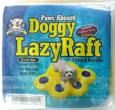 Paws Aboard Doggy Dog Lazy Water/Pool Raft Small 25.5