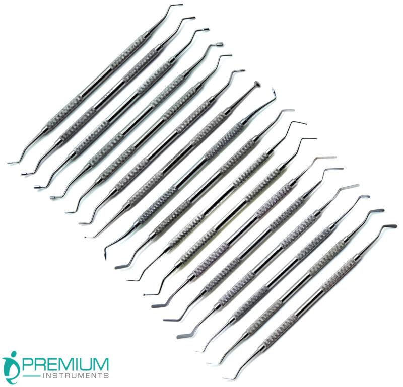 Dental Composite Plastic Amalgam Filling Double Ended Instruments New Set of 17
