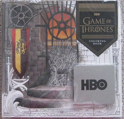 GAME OF THRONES HBO OFFICIAL PROMOTIONAL COLORING BOOK & PENCIL SET NEW SEALED!!](Promotional Pencils)