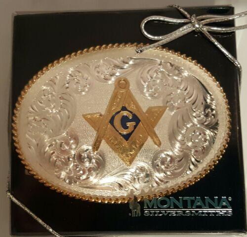 Belt Buckle with Square and Compass Montana Silversmith Masonic Mason