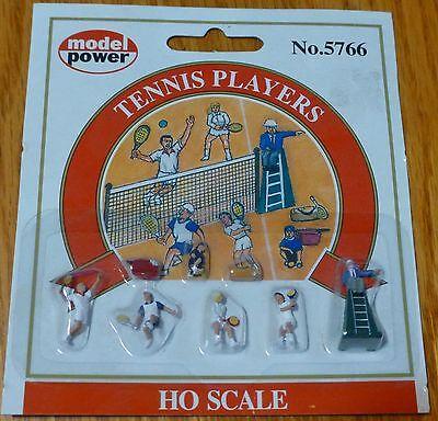 (Model Power #5766 Recreation pkg(6) -- Tennis Players w/Ball Boy & Chair Umpire)