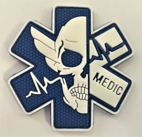 Medic EMT EMS Silicon PVC Patch(ESA Caduceus Medical Training Disability) P212#1