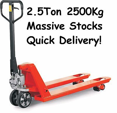 NEW, 2500kg EURO Hand Pallet Truck £249.60 Inc.VAT and Delivery, Fully Assembled