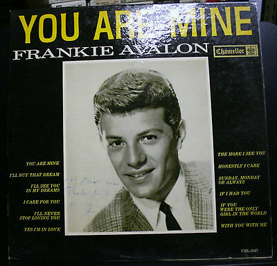 VINYL RECORD ALBUM COVER ONLY SIGNED FRANKIE AVALON TO PAMELA MASON JAMES WIFE