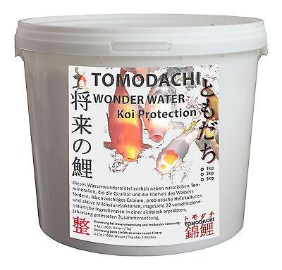 Natürlich klarer Koiteich Tomodachi WonderWater Wasserverbesserer 5kg Eimer
