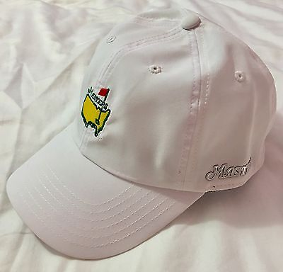 Official 2019 Masters WHITE PERFORMANCE Golf Hat Augusta - AUTHENTIC - flag pin