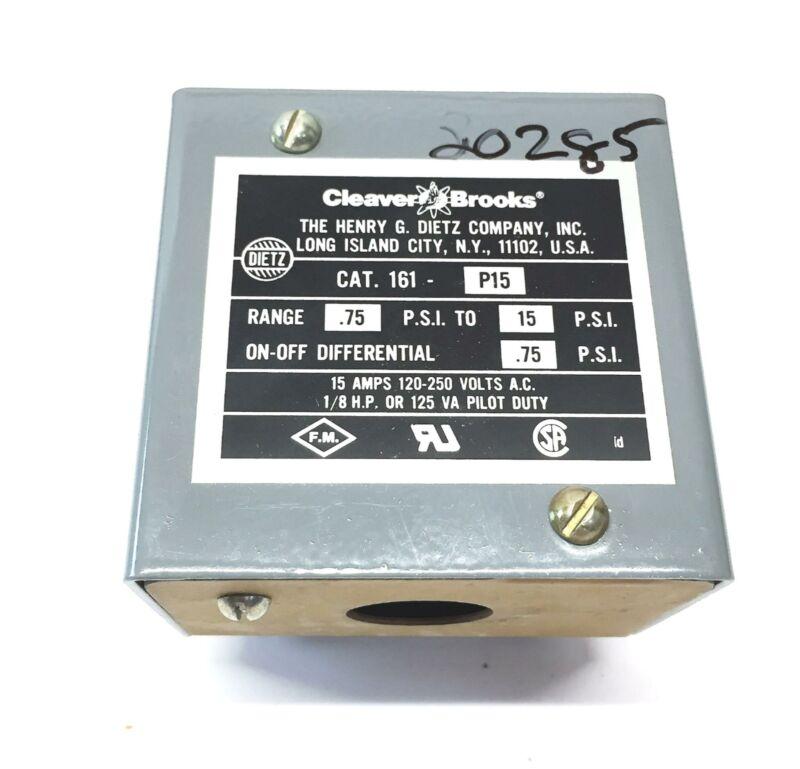 Cleaver Brooks Pressure Switch 161-P15 NOS