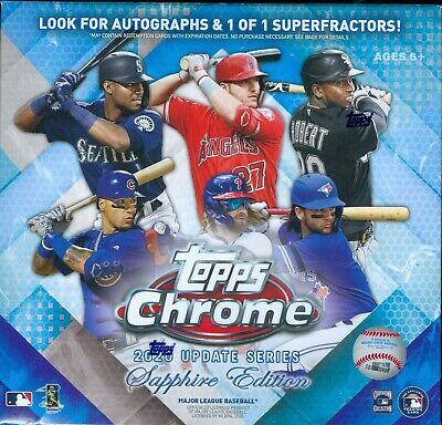 2020 Topps Chrome Update Series Baseball Sapphire Edition Factory Sealed Box