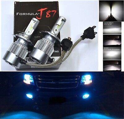 LED Kit C6 72W 9003 HB2 H4 10000K Blue Two Bulbs Head Light Dual High Low Beam