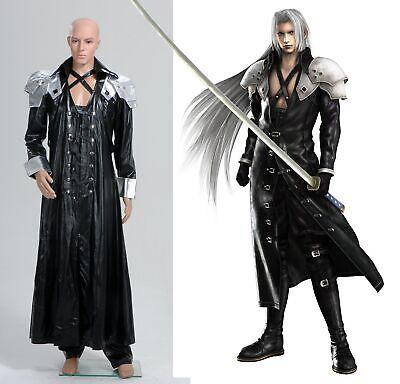 Final Fantasy ff VII 7 Sephiroth Schwarz Mantel Cosplay Kostüm Fasching Karneval