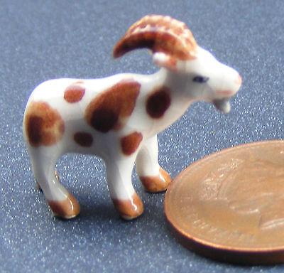 1:12 Scale Dolls House Miniature Ceramic Billy Goat Ornament Accessory S