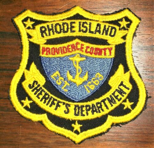 GEMSCO NOS Vintage Patch SHERRIF DEPARTMENT PROVIDENCE COUNTY RI -  45+ year old