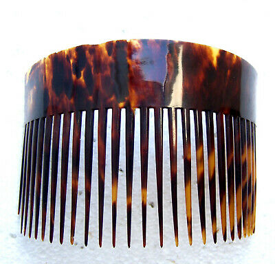 Victorian Wigs, Hair Pieces  | Victorian Hair Jewelry Early American tortoiseshell effect hair comb classic hair ornament $150.00 AT vintagedancer.com